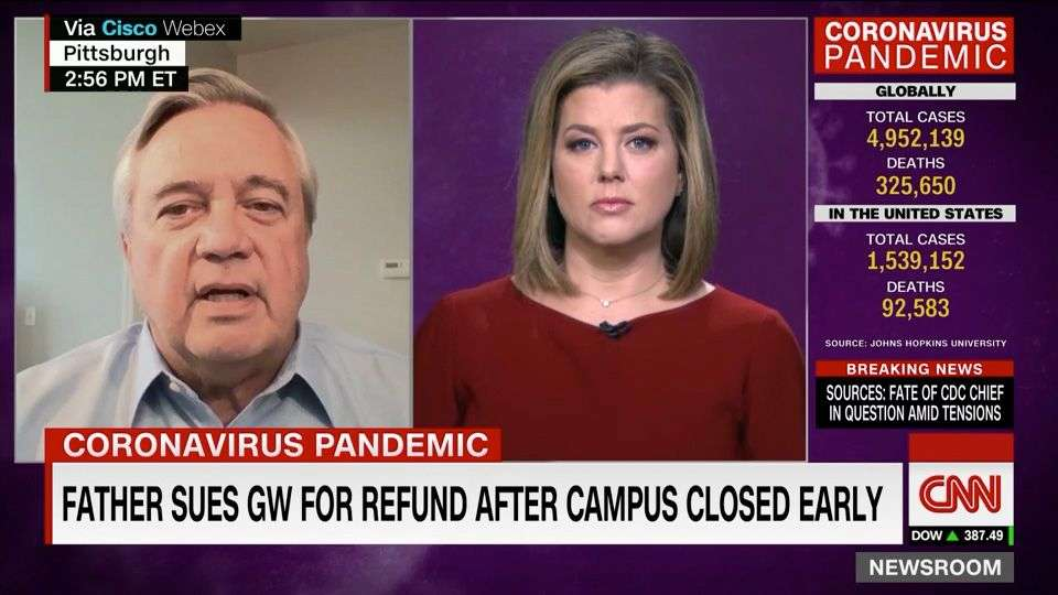 Coronavirus Tuition Refund Plaintiff Appears on CNN