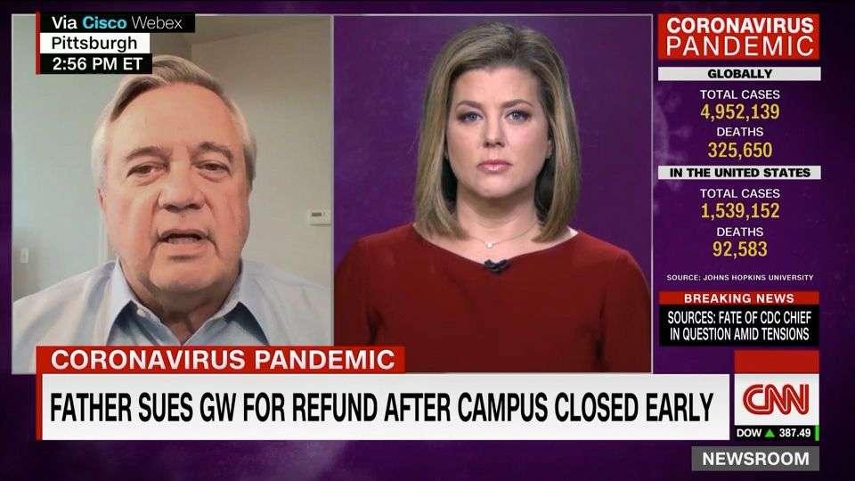 Coronavirus Tuition Refund Plaintiff Appears on CNN