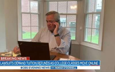 CBS Evening News Covers Ivey & Levetown Tuition Refund Lawsuit